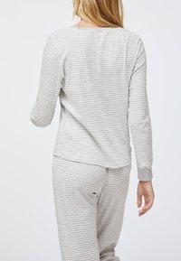 OYSHO - STRIPED - Nattøj trøjer - grey - 2