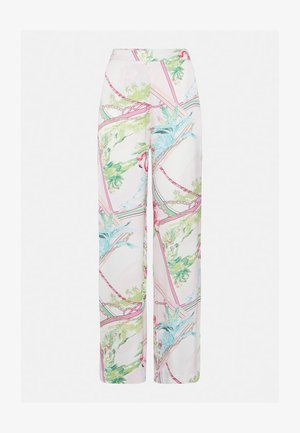 PRINT ALLOVER - Trousers - green / blue / pink