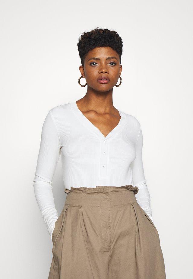 CLASSIC GRANDAD - Bluzka z długim rękawem - off white