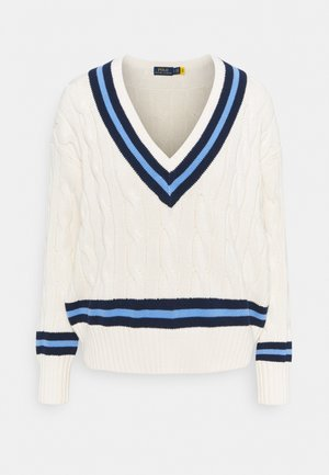 Jumper - cream/navy