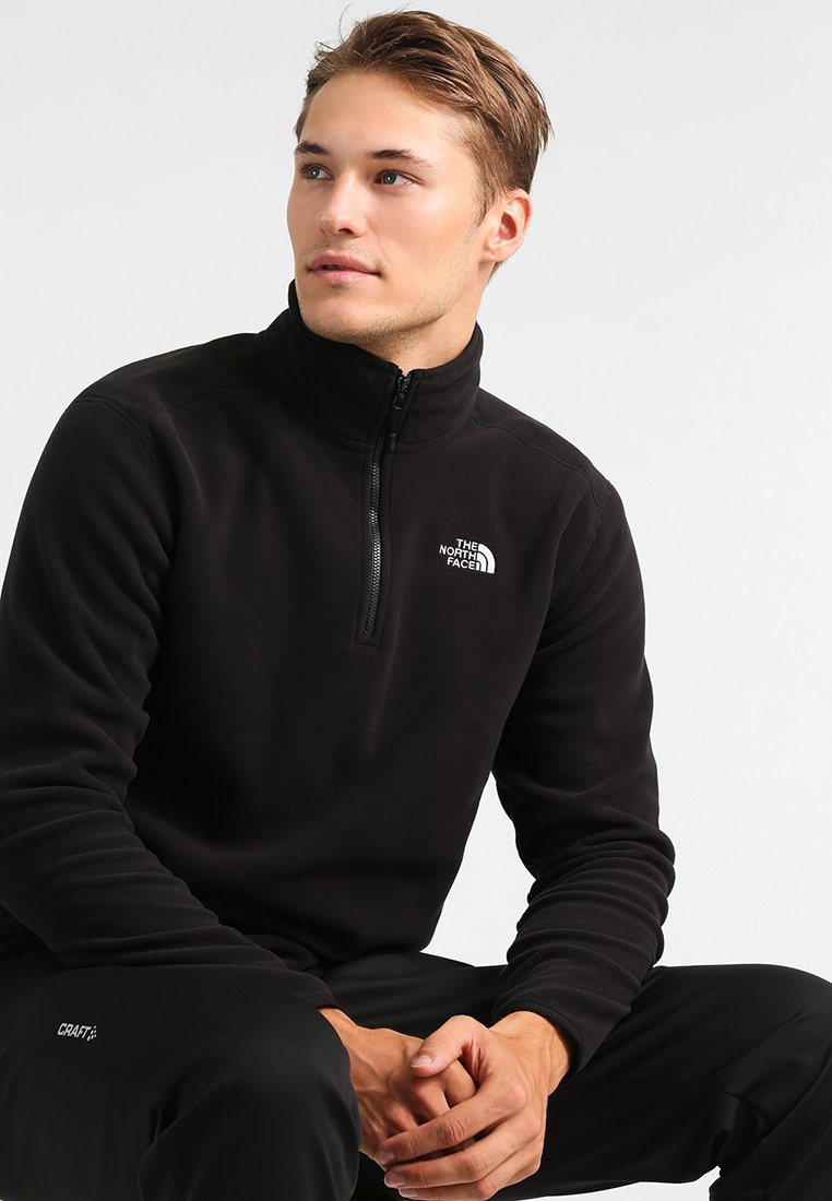 The North Face - GLACIER 1/4 ZIP - Sweat polaire - black