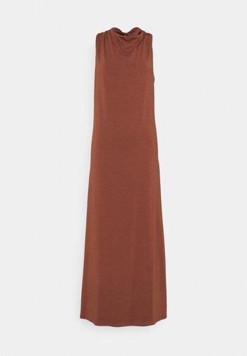 Jersey dress - dark brown