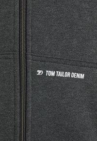 TOM TAILOR DENIM - HOODY JACKET  - Sweatjacke - black - 5