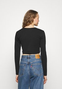 Alpha Industries - BASIC CROPPED  - Long sleeved top - black - 2