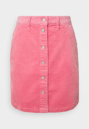 BUTTON SKIRT - Minisukně - glamour pink