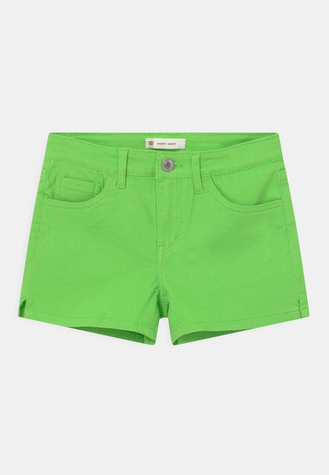 Džínové kraťasy - bright green