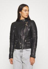 Diesel - L-IGE-NEW - Leather jacket - black - 0