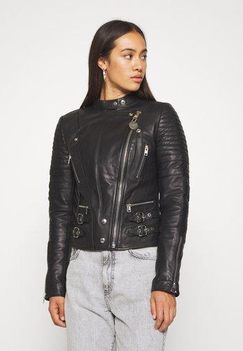 L-IGE-NEW - Leather jacket - black