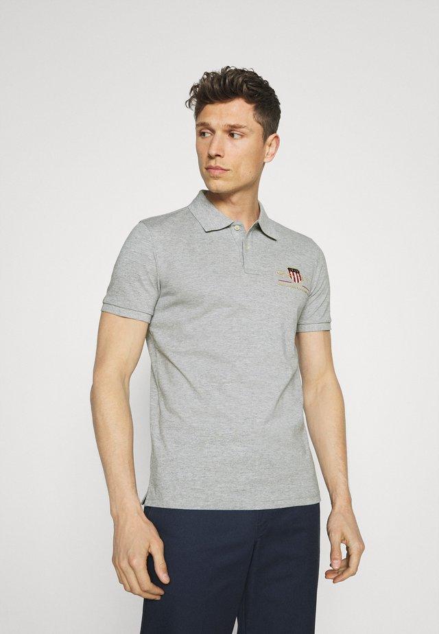 ARCHIVE SHIELD - Polo shirt - grey melange