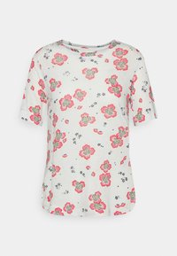 Marks & Spencer London - FLORAL TEE - Print T-shirt - offwhite - 0