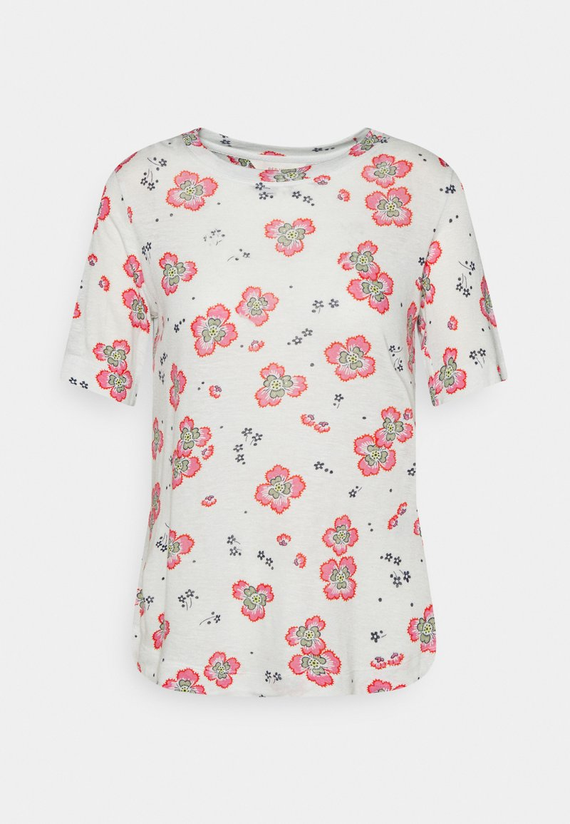 Marks & Spencer London - FLORAL TEE - Print T-shirt - offwhite
