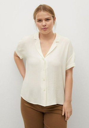 Button-down blouse - blanc