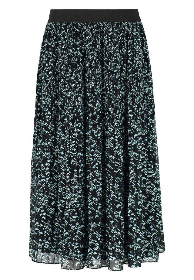Spódnica trapezowa - 527 manja print black