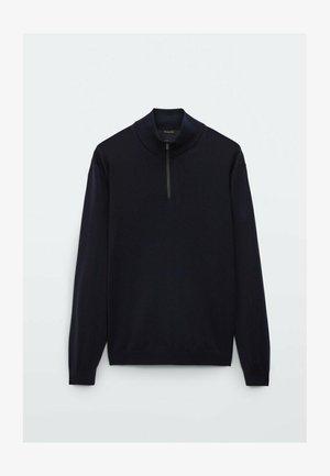 MERINO WITH MOCK NECK  - Sweatshirt - dark blue