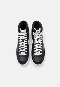 Nike Sportswear - BLAZER MID '77  - High-top trainers - black/sail/white/volt - 3