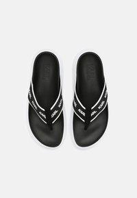 KARL LAGERFELD - KAPRI - T-bar sandals - black/white - 4