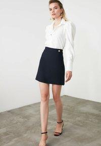 Trendyol - A-line skirt - navy blue - 1