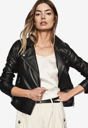 GEO - Leather jacket - black