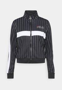Fila - JAIMI PINSTRIPE TRACK JACKET - Training jacket - black/bright white - 0