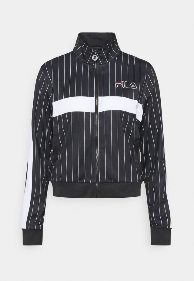 JAIMI PINSTRIPE TRACK JACKET - Veste de survêtement - black/bright white