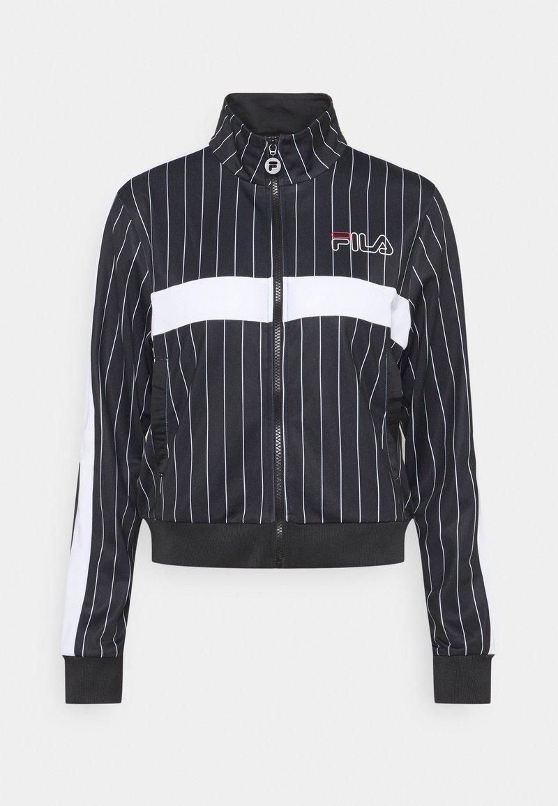 Fila - JAIMI PINSTRIPE TRACK JACKET - Training jacket - black/bright white