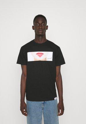LIPS TEE - T-shirt con stampa - black