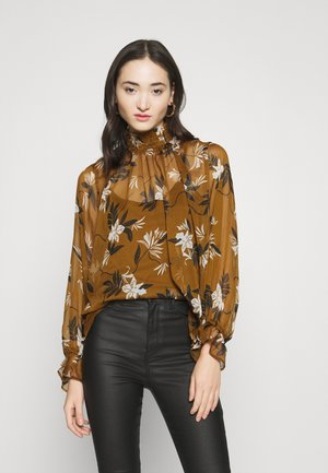 VIPILLAS  - Blouse - tapenade/black/birch