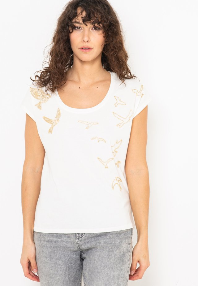 BIRDS  - T-shirt imprimé - off-white
