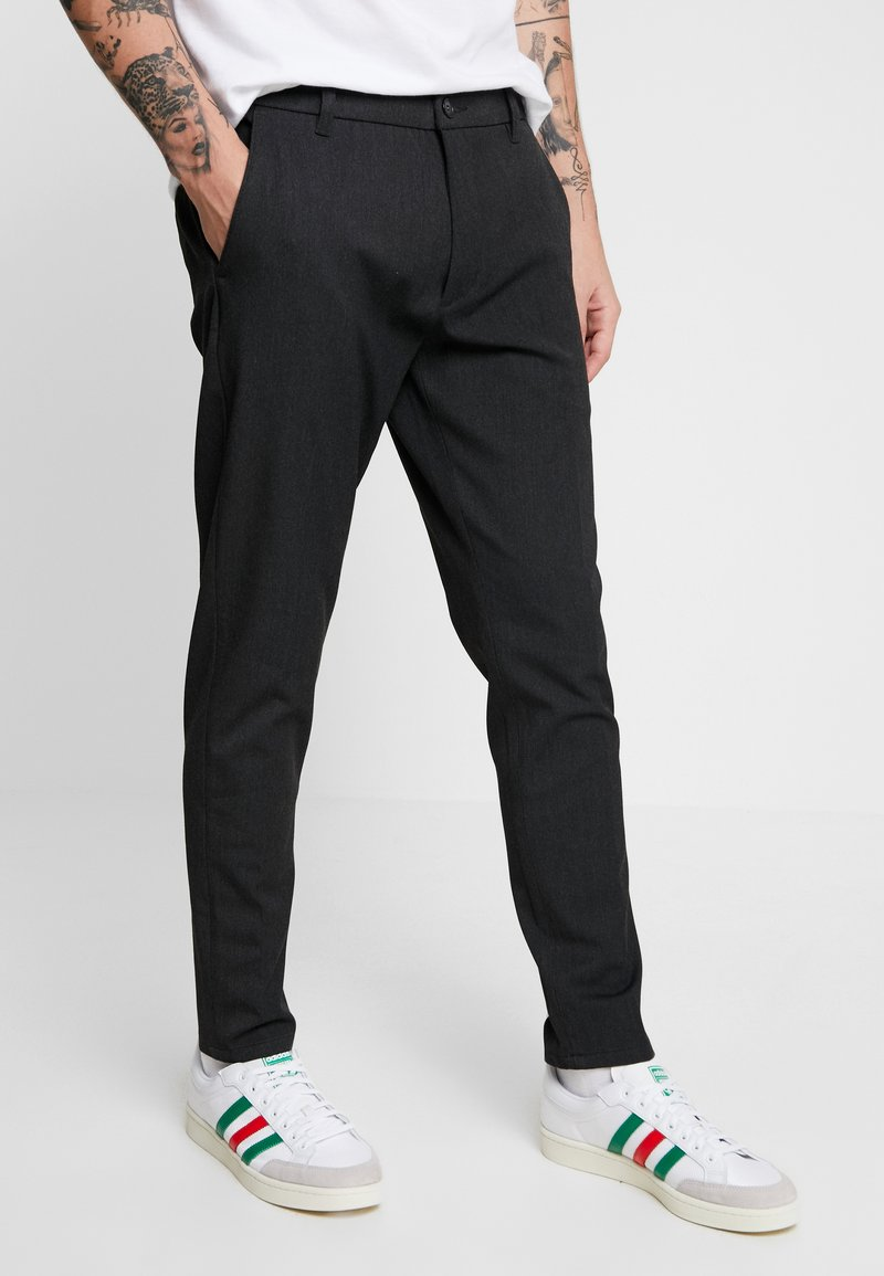 Minimum - UGGE - Trousers - dark grey