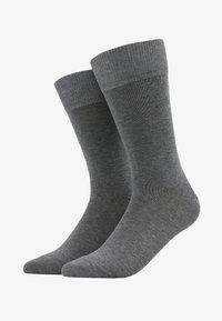 Happy 2-Pack Socks - Strumpor - mottled grey