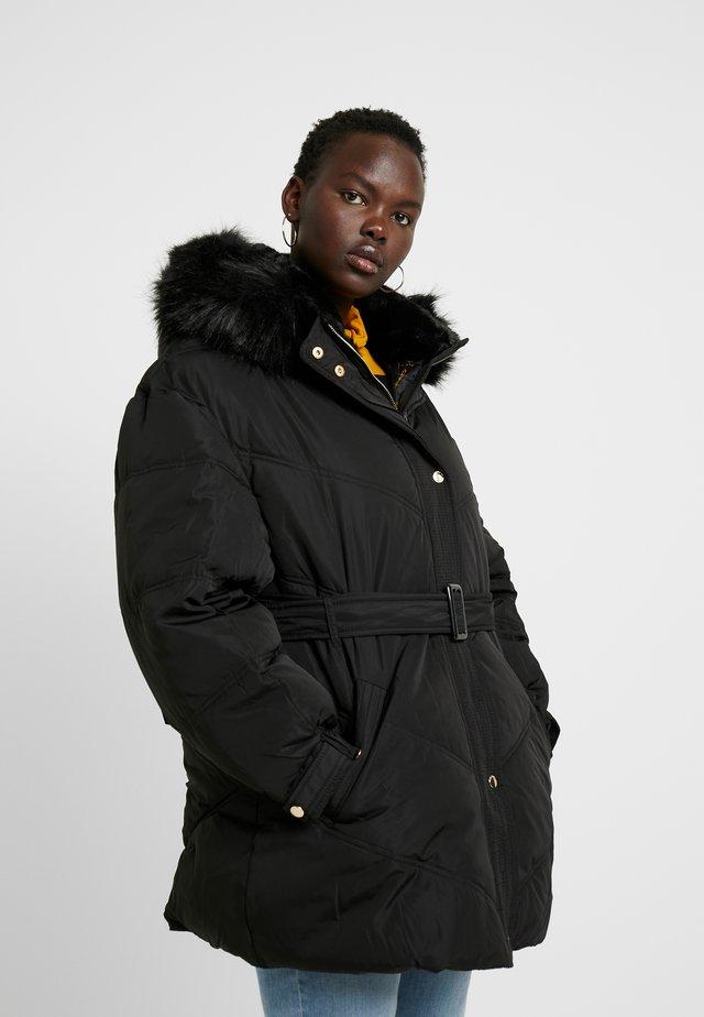 BELTED PUFFER MISHKA - Winter coat - black