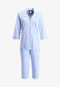 Lauren Ralph Lauren - HERITAGE 3/4 SLEEVE CLASSIC NOTCH COLLAR SET - Pyjama set - french blue/ white - 4