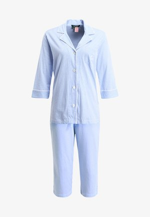 HERITAGE 3/4 SLEEVE CLASSIC NOTCH COLLAR SET - Pyjama set - french blue/ white