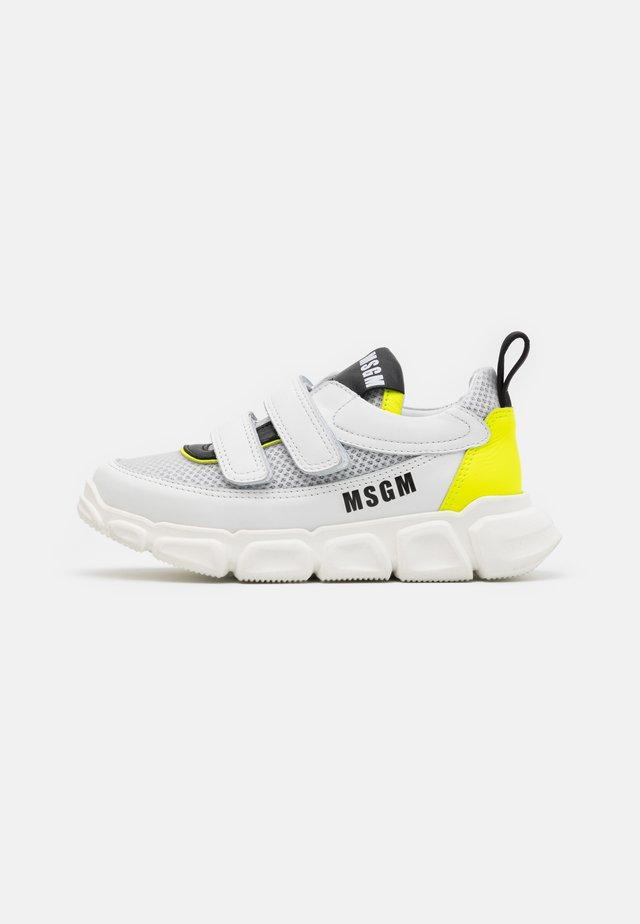 UNISEX - Sneakers - white/neon yellow