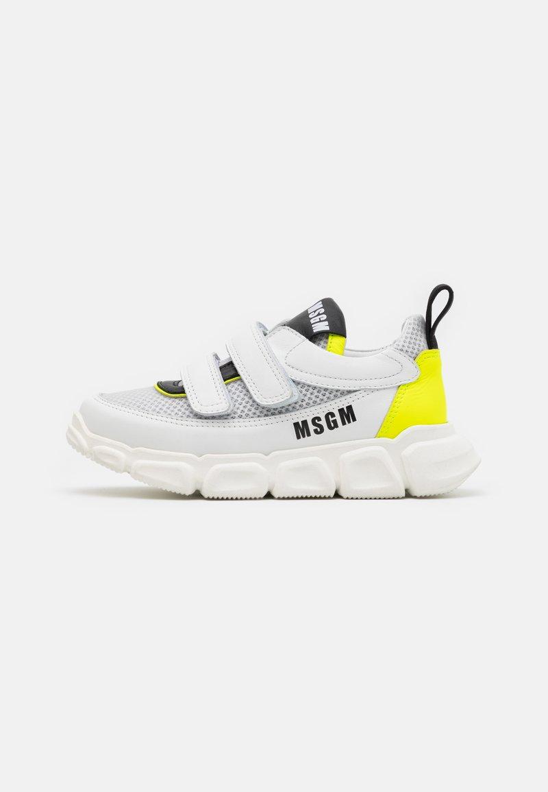 MSGM - UNISEX - Trainers - white/neon yellow