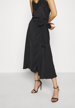 HEAVY SKIRT - A-linjainen hame - black