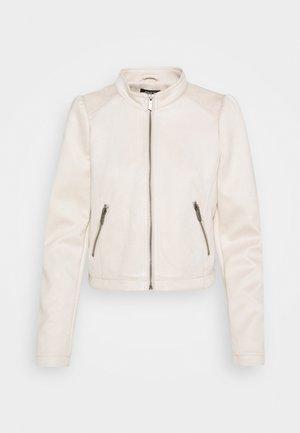 ONLSHELBY CROP BONDED JACKET  - Faux leather jacket - moonbeam