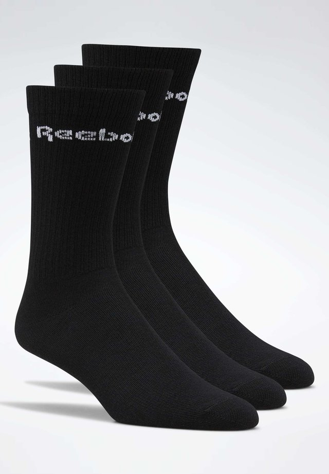 2019-11-01 ACTIVE CORE CREW SOCKS 3 PAIRS - Socks - black