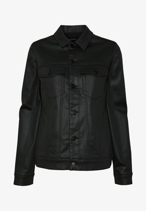 PCDALIA COATED JACKET - Džínová bunda - black