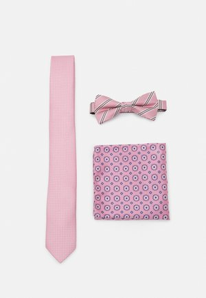 JACTIMOTHYNECKTIE GIFTBOX SET - Solmio - raspberry rose
