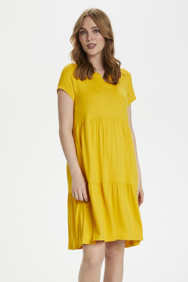 Jersey dress - golden rod