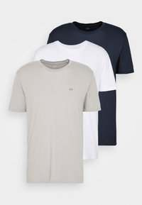 GAP - CREW 3 PACK - Basic T-shirt - dark blue/white/taupe - 5