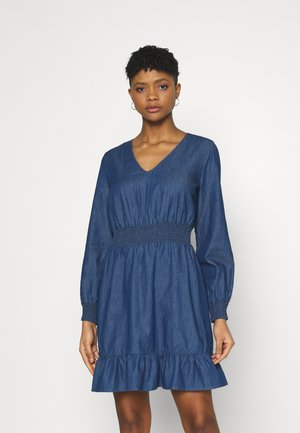 ONLSPACE SMOCK DRESS - Denim dress - dark blue denim