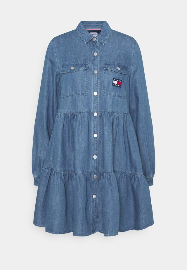 CHAMBRAY DRESS  - Vestido informal - mid indigo