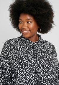 Glamorous Curve - DALMATIAN SPOT TIE SLEEVE - Button-down blouse - monochrome - 3