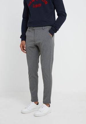 SUIT PANTS COMO - Tygbyxor - grey melange