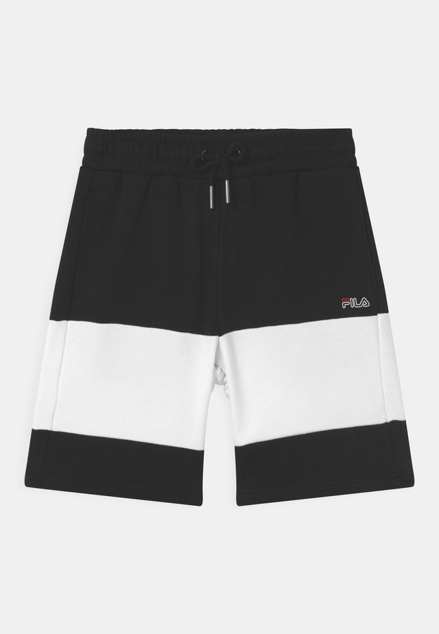JULIUS BLOCKED  - Teplákové kalhoty - black/bright white