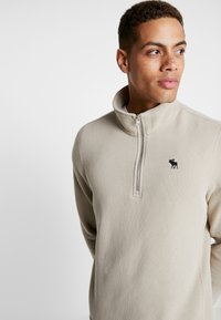Abercrombie & Fitch - HOLIDAY CORE ICON MOCK - Sudadera - tan - 3