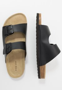 Pier One - UNISEX - Tofflor & inneskor - black - 1