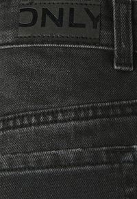 ONLY - ONLBAY DESTROY - Denim shorts - black denim - 6